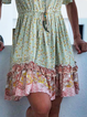Plus size Casual V Neck Printed Dresses