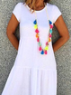 Plus size Solid Casual Short Sleeve Dresses