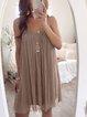 Chiffon Boho Spaghetti-Strap Chiffon Dresses