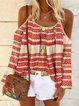Boho Long Sleeve Printed Shirts & Tops