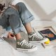 Unisex Little Daisy Embroidered Flat Sneakers