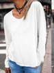 Casual Round Neck Long Sleeve Shirts & Tops