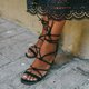 Pi Clue Daily Suede Block Heel Sandals