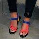 Pi Clue Flat Heel Leather Summer Sandals