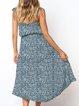 Polka Dots Spaghetti Women Casual Midi Dress