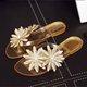 Open Toe Casual Summer Pvc Flower Slippers