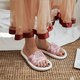 Flat Heel Open Toe Solid Black Summer Daily Jelly Slippers
