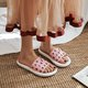 Open Toe Flat Heel Pink Jelly Daily Summer Slippers