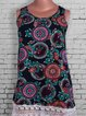 Vintage Tribal Sleeveless Statement Plus Size Casual Dresses