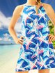 Vintage Star Printed Plus Size Sleeveless Casual Holiday Dresses