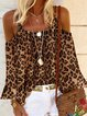 Casual Leopard Shirts & Tops