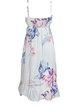 Floral Printed Sleeveless Holiday Spaghetti  Midi Dresses