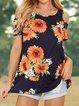 Off Shoulder Floral-Print Casual Shirts & Tops