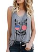 Sleeveless Casual Printed Vests