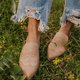 Apricot Casual Summer Low Heel Leather Other Shoes