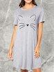 Cotton-Blend Floral-Print Vintage Sleepwear & Loungewear