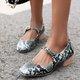 Summer Buckle snakeskin Loafers