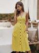 Graphic Printed Pockets Holiday Midi Dress