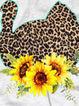 Casual Plus Size Sunflower Leopard Printed Long Sleeve Shirts Tops