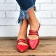 Women's Daily Closed Toe Casual Red Sandals