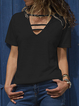 V Neck Casual Cotton Shirts & Tops