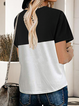 Casual Color-Block Short Sleeve T-shirt