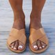 Summer Leather Slippers