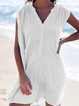 Short Sleeve V Neck Linen Dresses