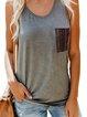 Sleeveless Paneled Casual Vests