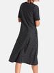 Plus size Crew Neck Short Sleeve Dresses