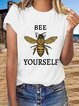 Floral-Print Casual  Short Sleeve T-shirt
