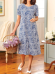 Plus size Printed Short Sleeve Dresses