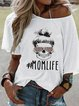 Printed Short Sleeve Casual Crew Neck T-Shirts