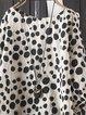 Polka Dots Floral-Print Casual Shirts & Tops