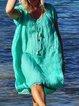 Blue Shift Short Sleeve Dresses