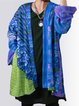 Blue Knitted Long Sleeve Vintage Cardigan