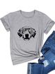 Short Sleeve Printed Casual Crew Neck Shirts & Tops