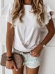 V Neck Casual Bell Sleeve T-Shirts