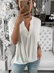 Casual Batwing Plain T-Shirts