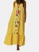 Bohemian Print Straps Loose Dress