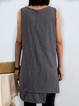 Crew Neck Holiday Sleeveless Shirts & Tops