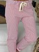 Casual Striped Women Pants