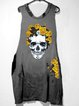 Steetstyle Printed Casual Sleeveless Crew Neck Mini Dress