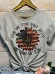 Casual Plants Crew Neck Short Sleeve Shirts & Tops
