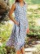 Women Daisy Caftan Pockets Buttoned Floral Dresses