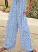 Plus size Casual Floral Printed One-Pieces