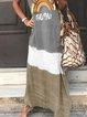 Gray V Neck Short Sleeve Dresses