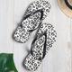 Leopard Print Artificial Leather Flat Heel Summer Slippers