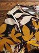 Vintage Floral Crew Neck Printed Short Sleeve Maxi Dresses