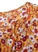 Boho Floral V Neck Casual Maxi Dresses